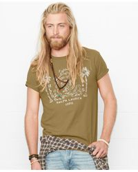 Denim & Supply Ralph Lauren | Green Eagle-graphic T-shirt for Men | Lyst
