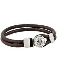 Fossil | Brown Double String Bracelet | Lyst
