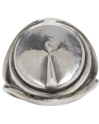 Ann Demeulemeester - Metallic Silver Sundial Ring for Men - Lyst