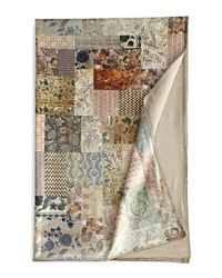 Neiman Marcus - Natural Printed Velvet Bed Scarf - Lyst