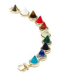 Eddie Borgo | Multicolor Multi-Stone Cone Bracelet | Lyst