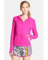 Trina Turk | Pink 'Bermuda' Hooded Jacket | Lyst
