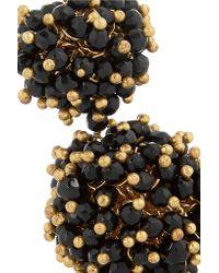 Rosantica - Black Pom Pom Gold-tone, Onyx And Agate Earrings - Lyst