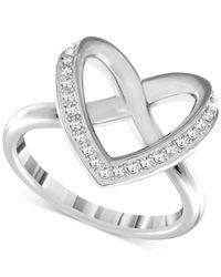 Swarovski - Metallic Cupidon Rhodium-tone Crystal Ring - Lyst