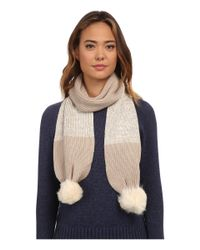 UGG - Multicolor Classic Marled Scarf W/ Sequins And Fur Pom - Lyst