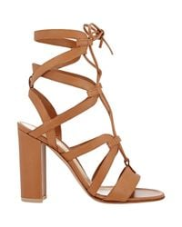 Gianvito Rossi - Natural Lace-up Gladiator Sandals - Lyst