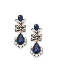 Forever 21 | Blue Faux Gemstone Drop Earrings | Lyst