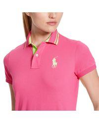 Ralph Lauren Golf | Pink Tailored Golf-fit Polo | Lyst