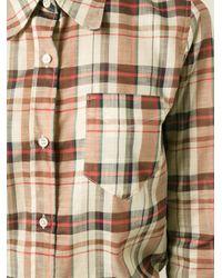 Étoile Isabel Marant - Natural 'flynn' Plaid Shirt - Lyst