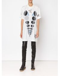 Bernhard Willhelm - White Fringed Disk T-shirt - Lyst