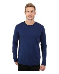 Agave | Blue Long Sleeve Crew Supma/modal Blend for Men | Lyst