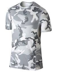 Nike | Gray Hypercool Dri-fit Camo T-shirt for Men | Lyst