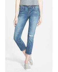 Vigoss - Blue 'thompson' Crop Skinny Jeans - Lyst