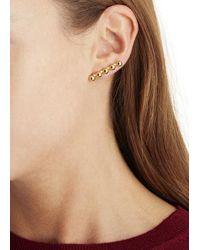 Joomi Lim | Metallic 16Kt Gold-Plated Faux Pearl Earrings | Lyst