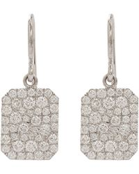 Finn - Pavé Diamond  White Gold Scapular Earrings - Lyst