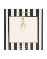 kate spade new york - White How Charming Faux Pearl Charm - Lyst