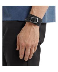 Balenciaga | Black Studded Leather Wrap Bracelet for Men | Lyst