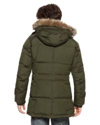 BOSS Orange - Green Obend-W | Heavyweight Down Blend Parka With Carry On Straps And Detachable Faux Fur Hood for Men - Lyst