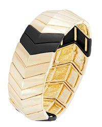 Kensie - Metallic Chevron Stretch Bracelet - Lyst