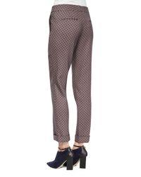 Etro - Purple Diamond-print Cuffed Capri Pants - Lyst
