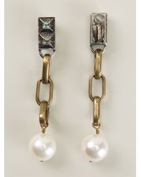 Lanvin Metallic Drop Earrings