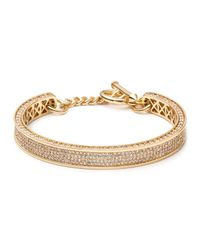 Eddie Borgo - Metallic Small Zenith Pave Crystal Cuff Bracelet - Lyst