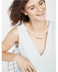 BaubleBar - Metallic Bar Nameplate Necklace - Lyst