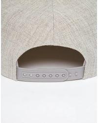 Brixton - Gray Rift Snapback Cap for Men - Lyst