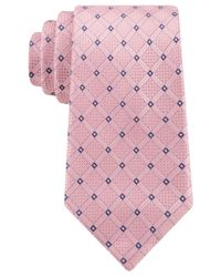 Michael Kors | Pink Michael Enviable Grid Tie for Men | Lyst