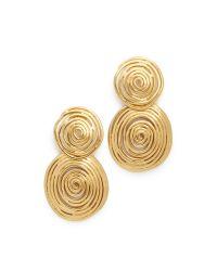 Gas Bijoux - Metallic Wave Earrings - Lyst