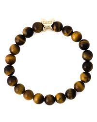 Fefe - Brown Stone Bead Bracelet for Men - Lyst