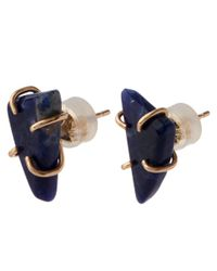 Melissa Joy Manning | Blue Gold Sodalite Freeform Post Earrings | Lyst