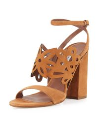 Tabitha Simmons - Brown Emi Suede Sandals - Lyst