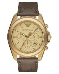 Emporio Armani | Natural Chronograph Watch for Men | Lyst