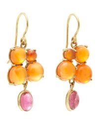 Judy Geib | Carnelian, Pink Tourmaline & Gold Drop Earrings | Lyst