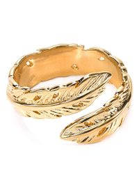 Melinda Maria | Metallic Nina Feather Ring | Lyst