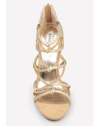 Bebe - Metallic Sandrra Rope Sandals - Lyst