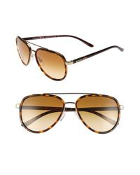 Michael Kors | Brown 57mm Aviator Sunglasses | Lyst