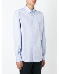 Etro - Blue Micro Print Shirt for Men - Lyst