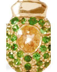 Daniela Villegas   Green Maat 18k Pink Gold Tsavorite and Sapphire Ring   Lyst