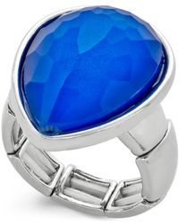 Style & Co. - Silver-tone Blue Stone Teardrop Ring - Lyst