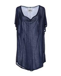 MM6 by Maison Martin Margiela | Blue Short Sleeve Tshirt | Lyst