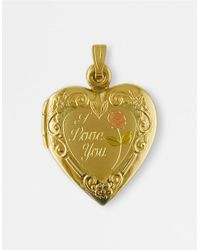 Lord & Taylor | 14 Kt. Yellow Gold Love Heart Locket Charm | Lyst