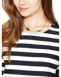 kate spade new york - Black Kiss And Make Up Wink Necklace - Lyst