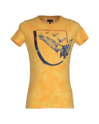Armani Jeans - Yellow T-shirt for Men - Lyst