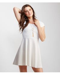 Aéropostale | Natural Cap Sleeve Textured Fit & Flare Dress | Lyst