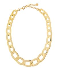 R.j. Graziano - Metallic Golden Oval Chain Link Necklace - Lyst