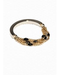 & Other Stories | Black Dotted Chain Ring | Lyst