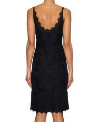 Diane von Furstenberg - Black Olivia Scalloped Slip Dress - Lyst