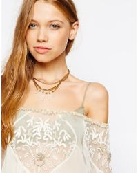 Pilgrim - Metallic Crystal Shard Collar Necklace - Lyst